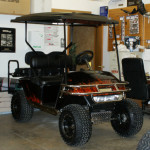 2005 E-Z-GO ELE PDS CUSTOM GOLF CAR SOLD WOORDGRAIN