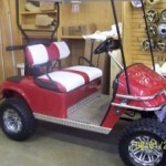 Custom Golf Car SOLD WHITE RED