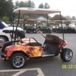 FLAME GOLF CAR